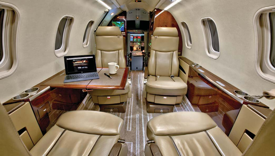 Lear 45XR Jet Aircraft Interior